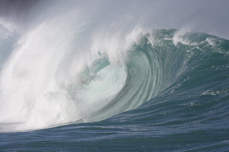 kraftig wave royaltyfri foto