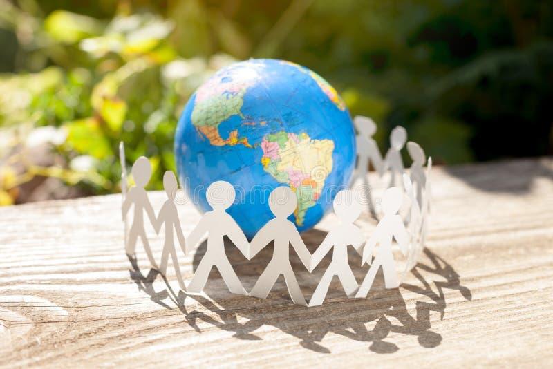 Kraftigt lag runt om världen royaltyfri foto