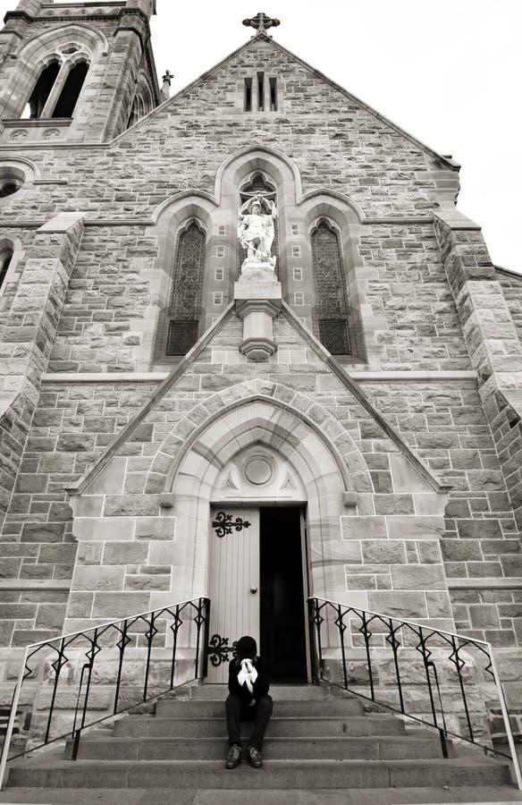 Kraftigt partnerskaplag av den be kristna modern och guden fotografering för bildbyråer