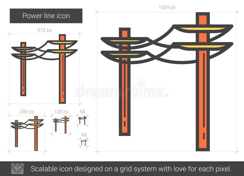 Kraftledningsymbol royaltyfri illustrationer