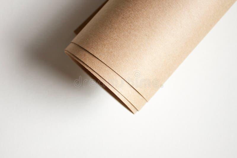 Kraftpapier-document broodje royalty-vrije stock afbeeldingen