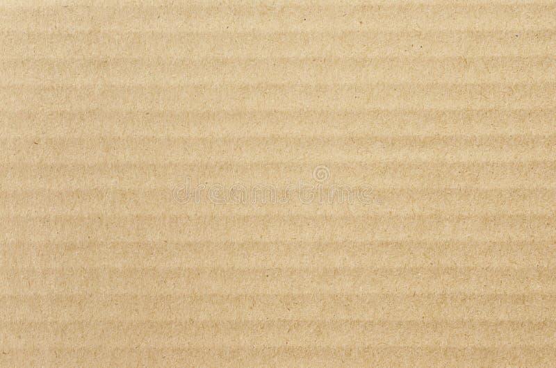 Kraftpapier-document textuur Horizontale strepen voor achtergrond royalty-vrije stock foto's
