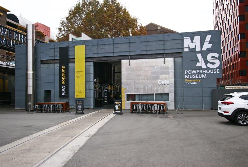Kraftstationmuseum av museet av applicerade konster och vetenskaper MAAS i Sydney, Australien royaltyfri fotografi