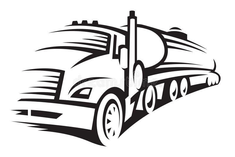 Kraftstoff-LKW lizenzfreie stockfotografie