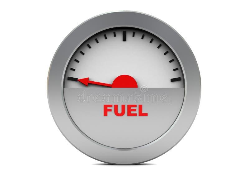 Kraftstoffanzeige stock abbildung