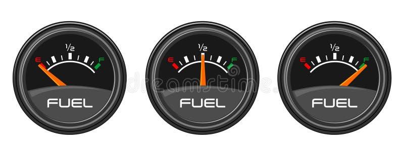 Kraftstoffanzeigen stock abbildung