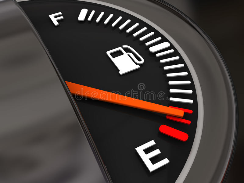 Kraftstoffmeßinstrument stock abbildung