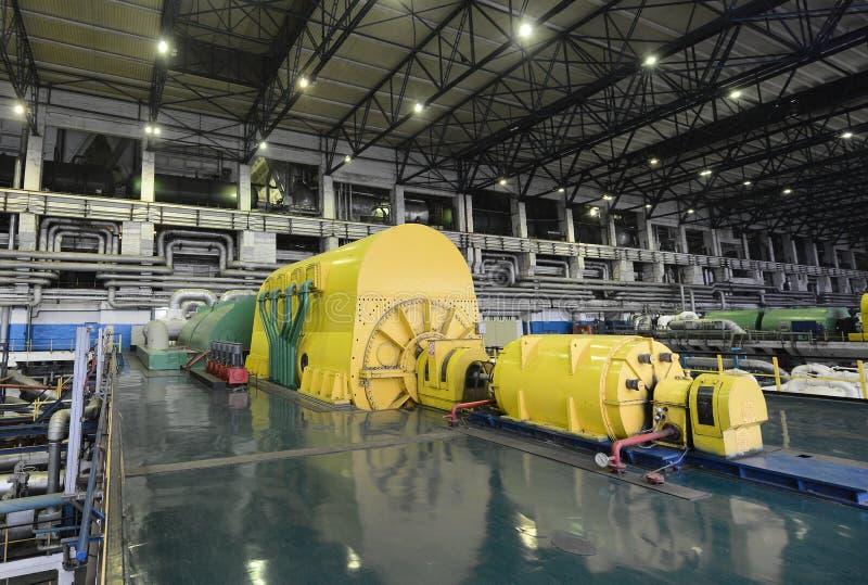 Kraftverk elektrisk generator royaltyfri fotografi