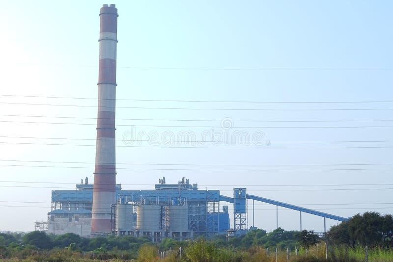 Kraftverk för NSPCL Bhilai, Bhilai Chhattishgarh arkivfoto