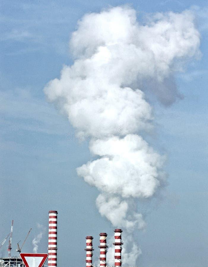 Kraftverkförorening royaltyfria foton