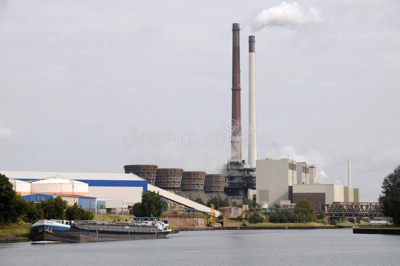Kraftwerk Datteln - Deutschland lizenzfreies stockfoto