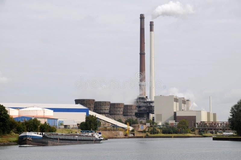 Kraftwerk Datteln - la Germania fotografia stock libera da diritti