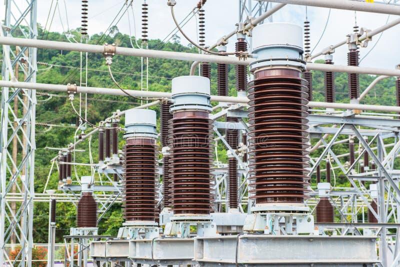 Kraftwerk für die Herstellung der elektrischen Energie stockfoto