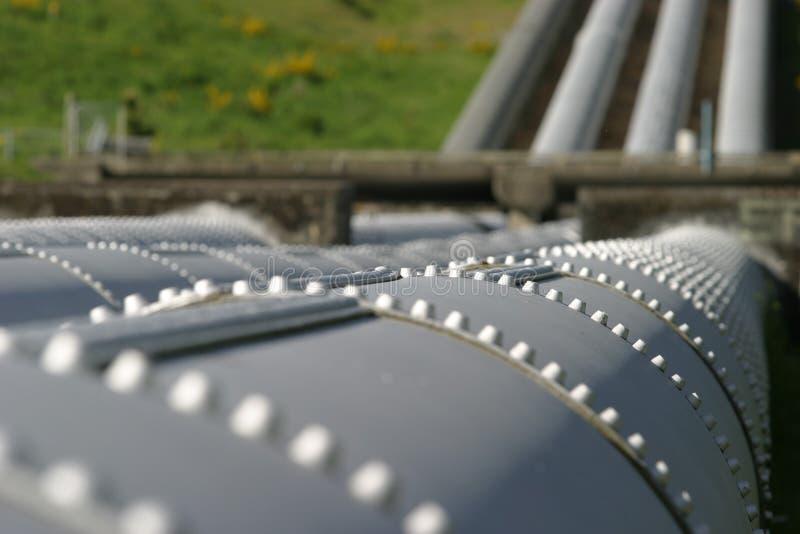 Kraftwerk Penstocks stockbilder