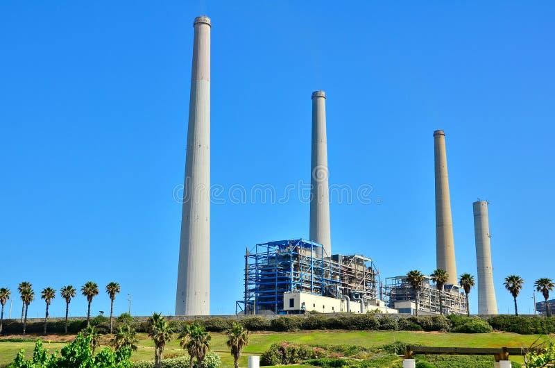 Kraftwerk-Station in Israel stockfotos