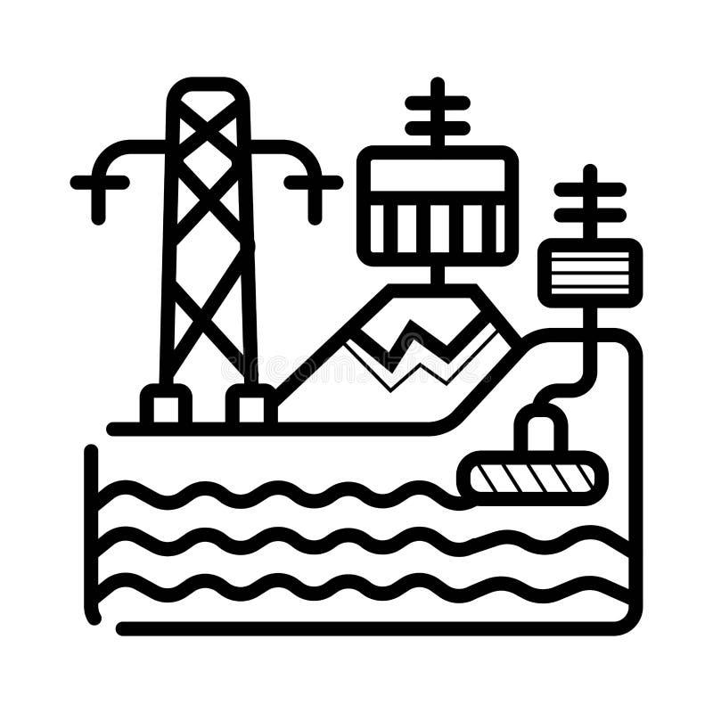 Kraftwerk-Vektorikone lizenzfreie abbildung