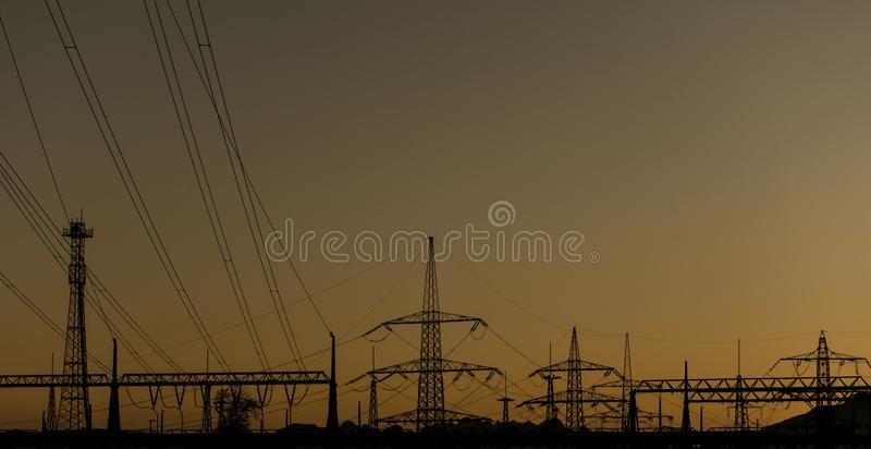 Kraftwerkschattenbild lizenzfreies stockfoto