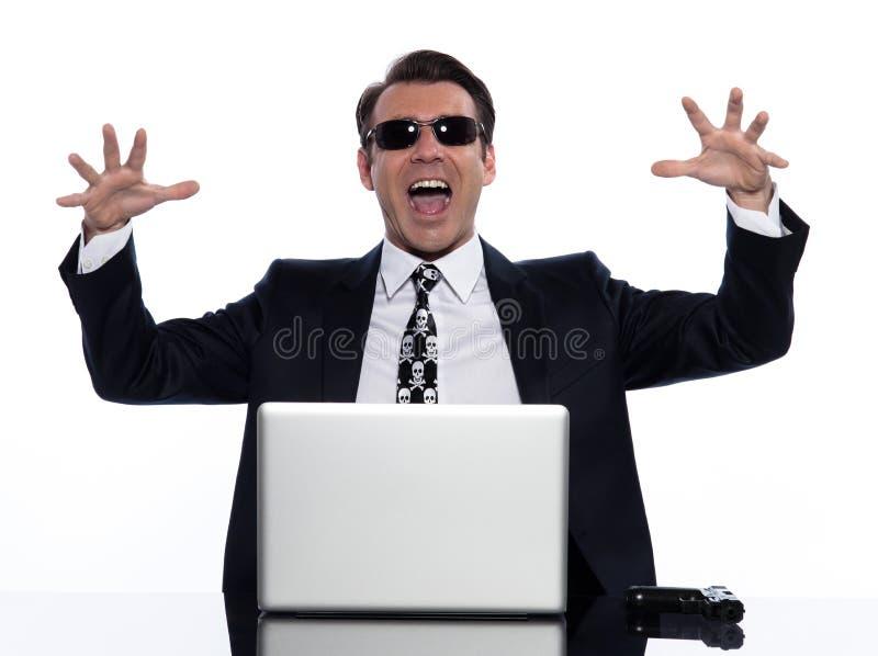krage som beräknar brotts- hackermanwhite royaltyfri fotografi