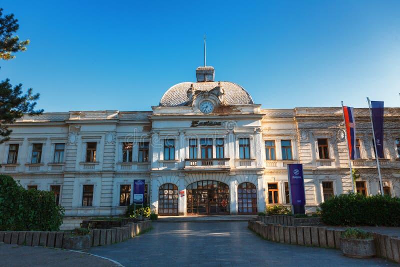 Kragujevac, Servië - Juli 18, 2016: Het district van Staralivnica, de oude Verlaten Zastava fabriek van Zastava in Kragujevac, Se royalty-vrije stock foto