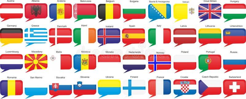 krajów europejczyka flaga royalty ilustracja