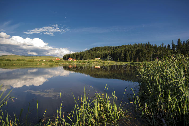 Kraj boczny jezioro zdjęcia royalty free