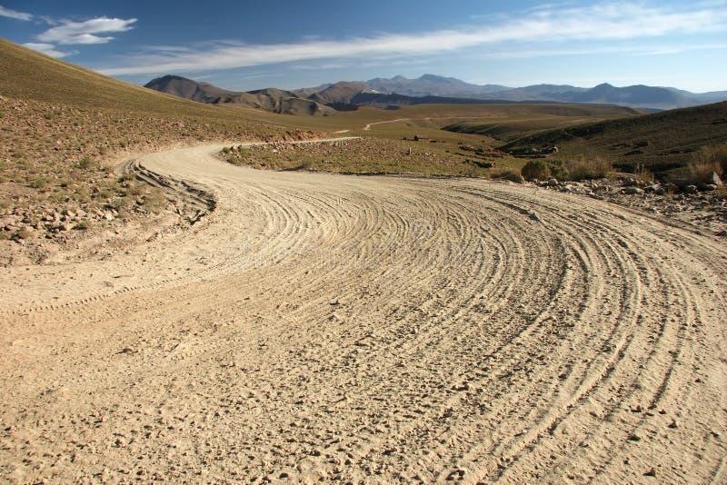 kraj bolivian piaszczystej drogi zdjęcie royalty free