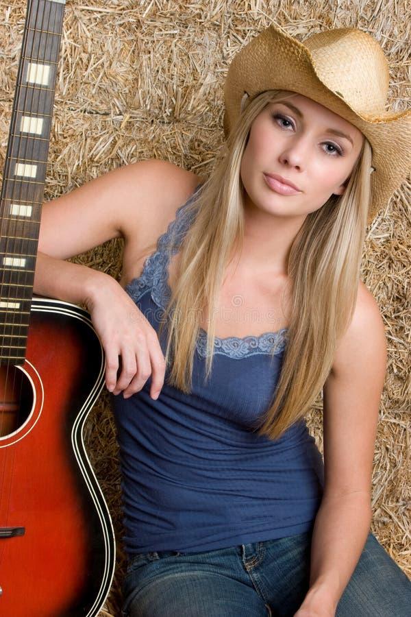 kraj dziewczyny gitara fotografia stock