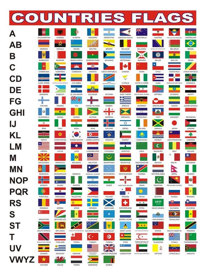 kraj flaga ilustracji