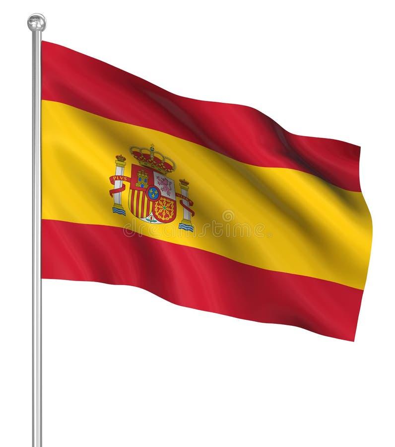 Kraj flaga - Hiszpania ilustracji