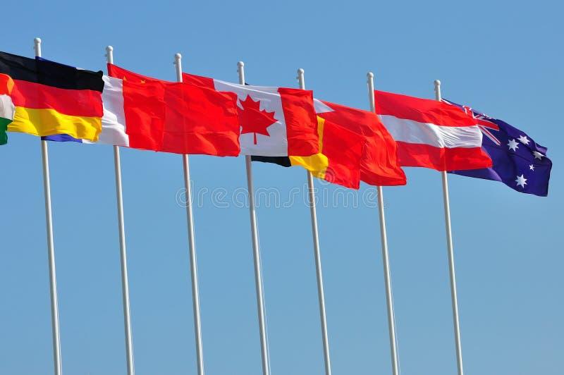 Download Kraj Flaga Wiosłują Różnorodnego Obraz Stock - Obraz złożonej z rząd, wiatr: 13329243