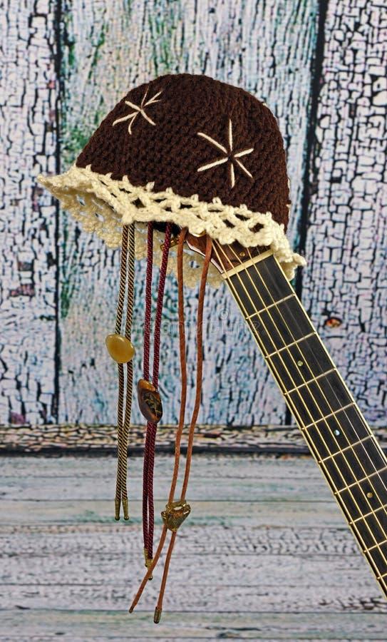 Kraj gitara akustyczna zdjęcie royalty free