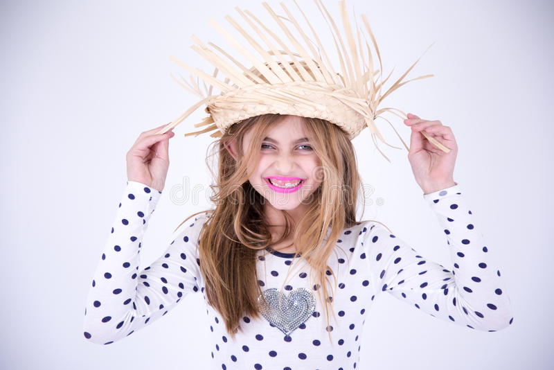 Kraj mała dziewczynka szczęśliwa obraz royalty free