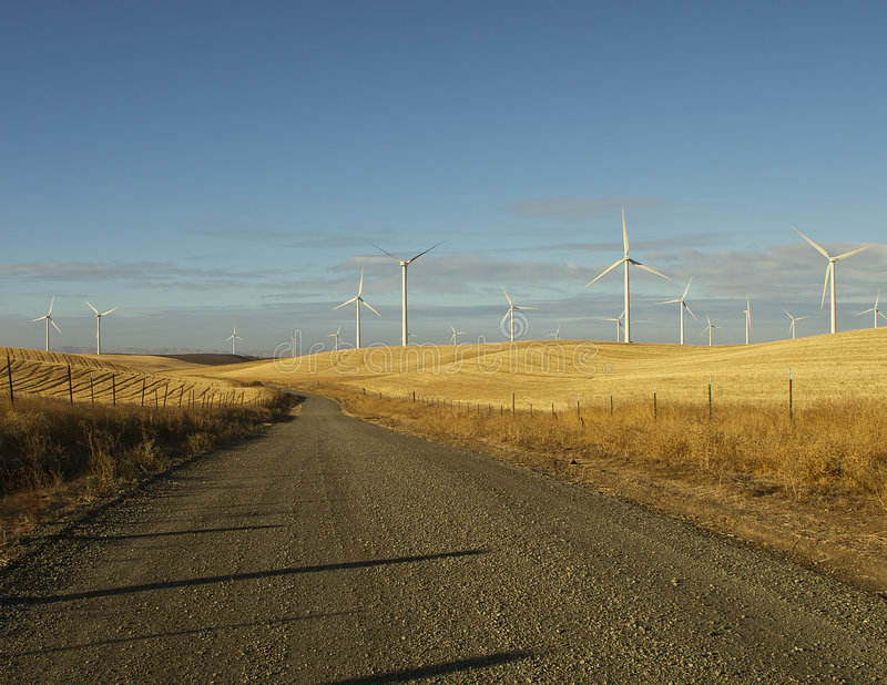 kraj rolnej drogi wiatr zdjęcie stock