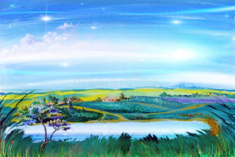 kraj rzeka ilustracja wektor