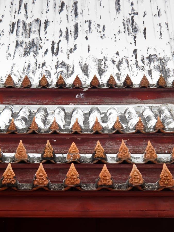 Krajang-on Thai roof-wat Yai Suwannaram stock photo