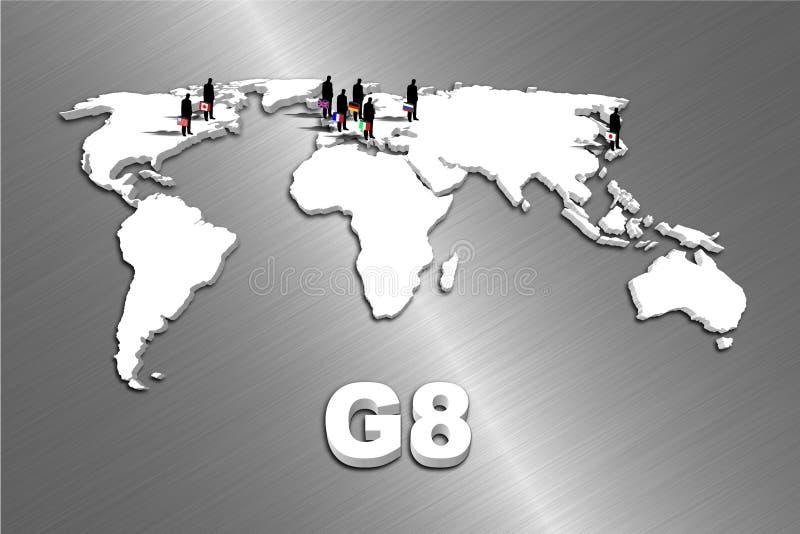 kraje g8 ilustracja wektor