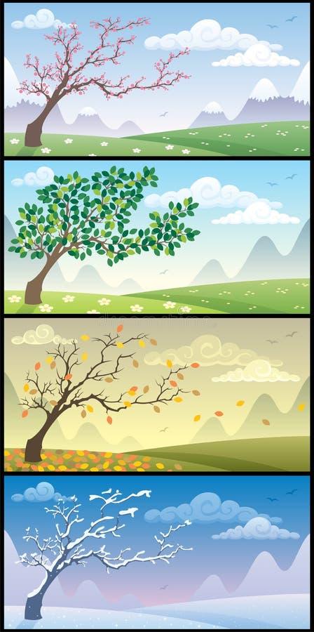 krajobrazów sezony ilustracja wektor