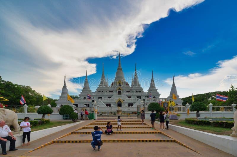 Krajobraz, Świątynny wata asokaram, Tajlandia, w Samut Prakan Azja Maj 20, 2019 zdjęcia royalty free
