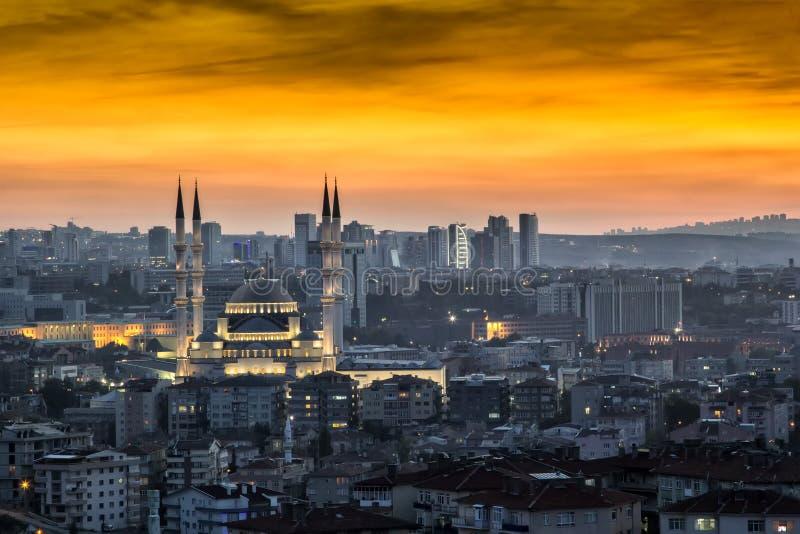 Krajobraz Ankara przy zmierzchem obraz stock