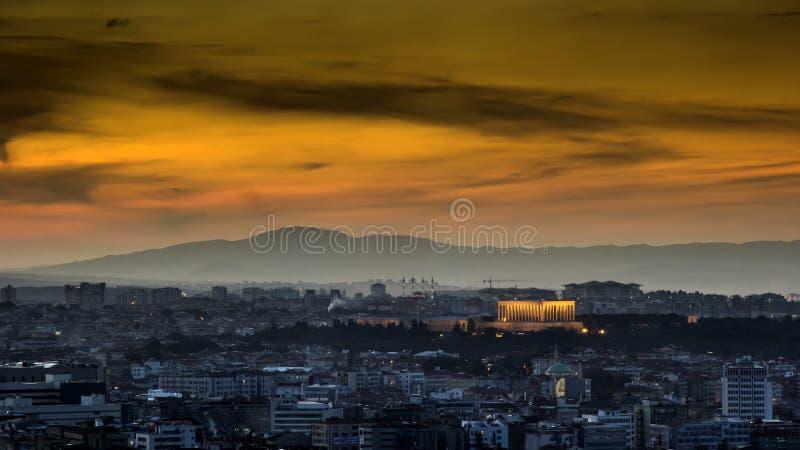 Krajobraz Ankara przy zmierzchem zdjęcia royalty free