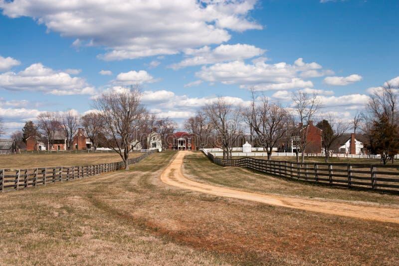 Krajobraz Appomattox wioska, Virginia zdjęcie royalty free