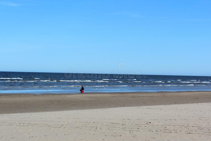 Krajobraz Bałtycki nadmorski w wiośnie zdjęcie stock
