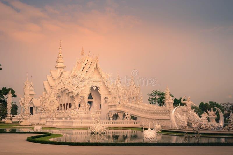 Krajobraz Biała świątynia, Chiangrai Tajlandia fotografia stock