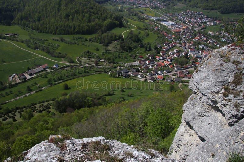 Krajobraz blisko Deggingen zdjęcie stock