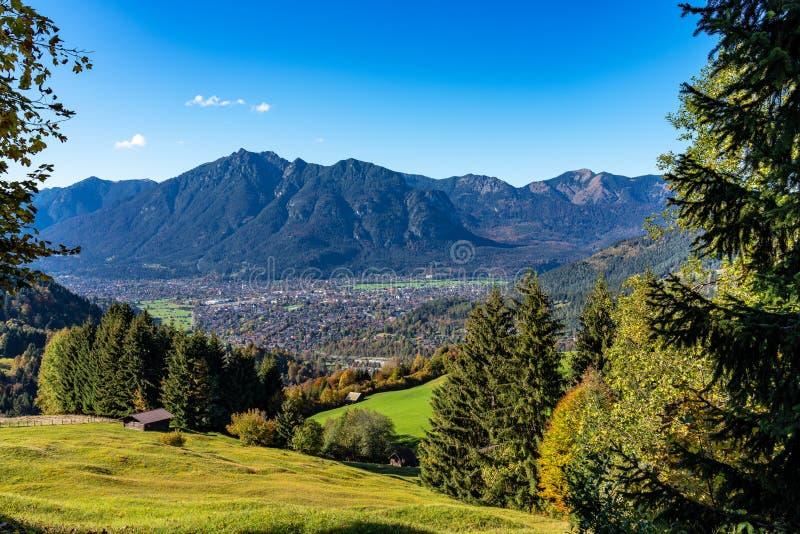 Krajobraz blisko Garmisch Partenkirchen w Bavaria, Niemcy zdjęcia royalty free