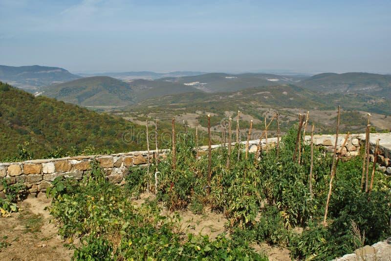 Krajobraz blisko Glozhene monasteru, Stara Planina Halne Bałkańskie góry, Lovech region, Bułgaria zdjęcia stock