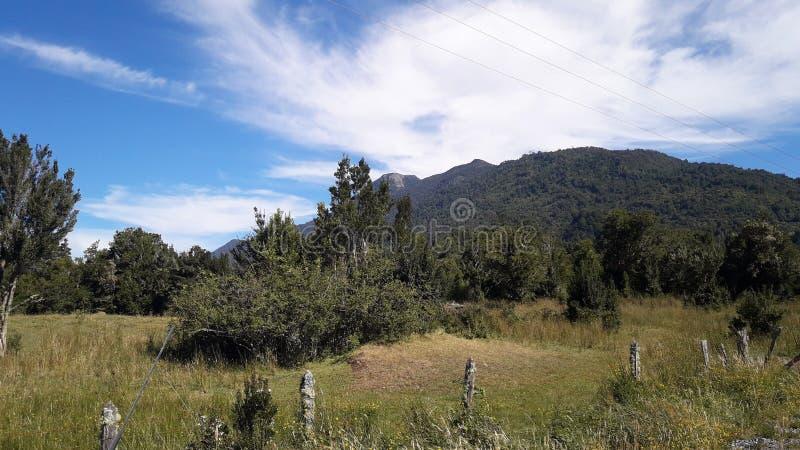 Krajobraz blisko Rio południe Chile obraz royalty free
