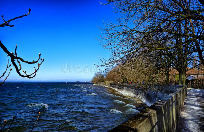 Krajobraz Bodensee jezioro od miasteczka Lindau Schwarzwald Germany fotografia royalty free