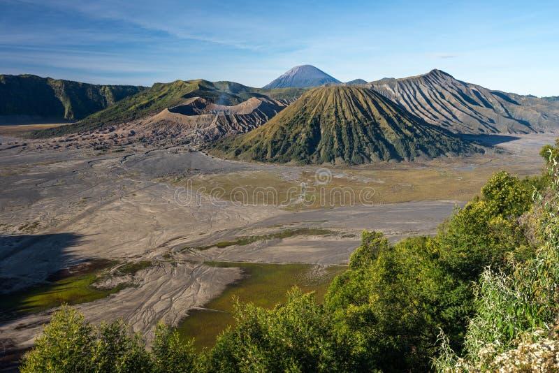 Krajobraz Bromo, Batok i Semeru wulkan, góra w wschodzie o zdjęcia royalty free