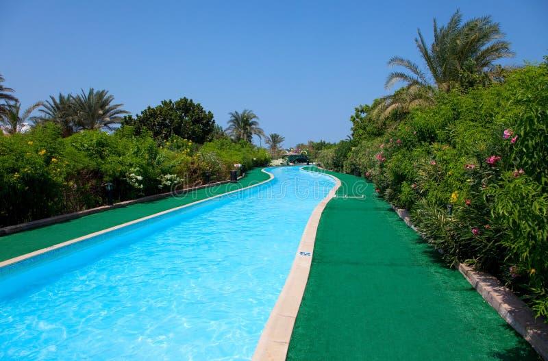 krajobraz dopłynięcie basenu dopłynięcie zdjęcia stock
